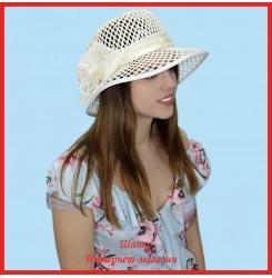 Шляпка Майли из рисовой соломки
