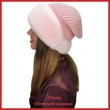 Трикотажная шапка с норкой Мэджи 1