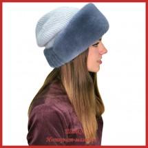 Трикотажная шапка с норкой Мэджи 2