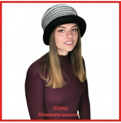 Женская шляпка Меландра из драпа