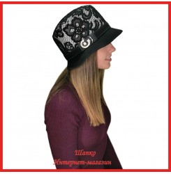 Драповая шляпка Мерина