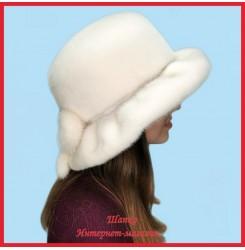 Норковая шляпа Мичико Белое золото