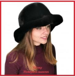 Норковая шляпа Мичико Черное золото