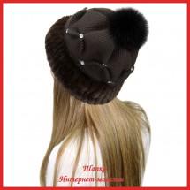 Трикотажная шапка Мираида 5 с кроликом