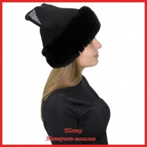 Трикотажная шапка Миральда 4 с кроликом