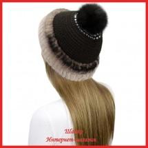 Трикотажная шапка Миранда 3 с кроликом