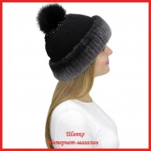 Трикотажная шапка Миранда 6 с кроликом