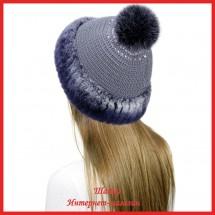 Трикотажная шапка Миранда 8 с кроликом