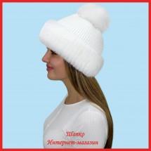 Трикотажная шапка Миранда 9 с кроликом