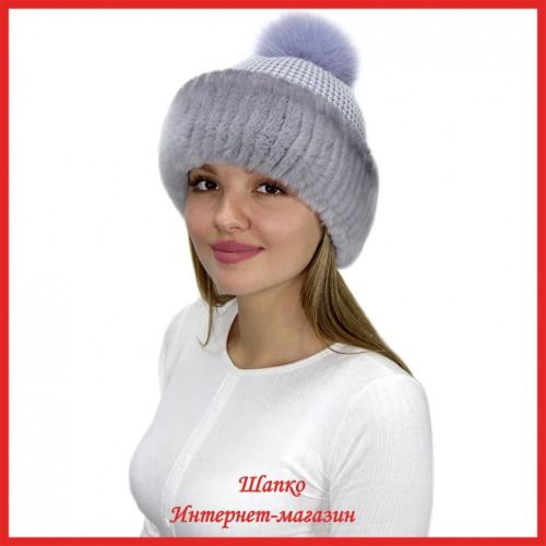 Трикотажная шапка Миранда 10 с кроликом