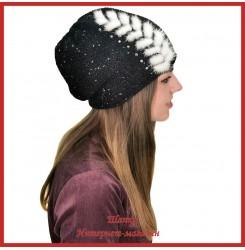 Вязаная шерстяная шапка Мохини