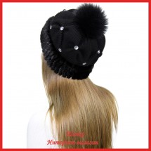 Трикотажная шапка с норкой Морган 2