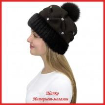 Трикотажная шапка с норкой Морган 3