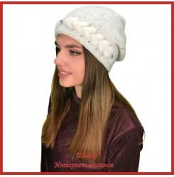 Вязаная шерстяная шапка Моуди