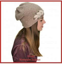 Вязаная шерстяная шапка Моуди 1