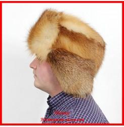 Мужская ушанка из лисы