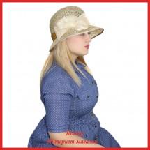 Шляпа Наделин из рисовой соломки