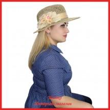 Шляпа Нагиза из рисовой соломки