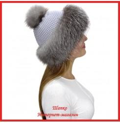 Трикотажная шапка с лисой Bluefrost Настасья 6