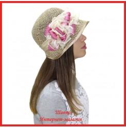 Шляпка Назария из рисовой соломки