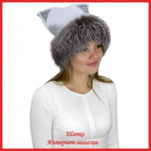 Трикотажная шапка с лисой Bluefrost Нега 3