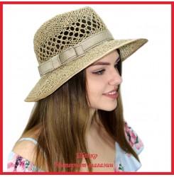 Шляпа Неоклассик из рисовой соломки