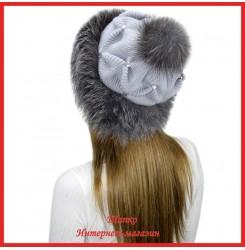 Трикотажная шапка с лисой Bluefrost Неста 4