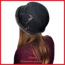 Шляпа замшевая Нурфиза с нерпой