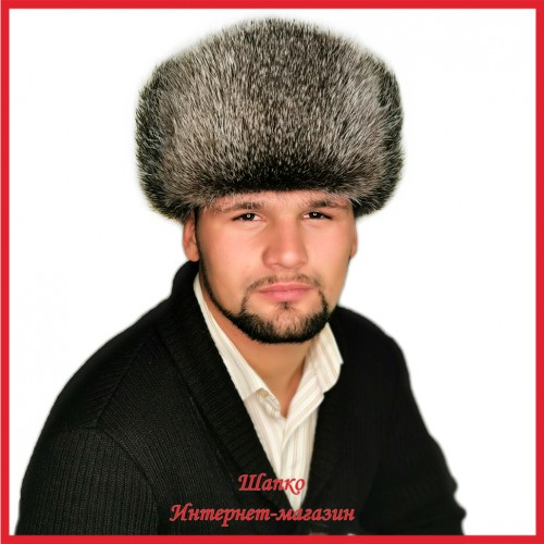 Классическая шапка - ушанка из нутрии