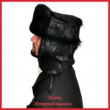 Классическая шапка - ушанка 1 из нутрии
