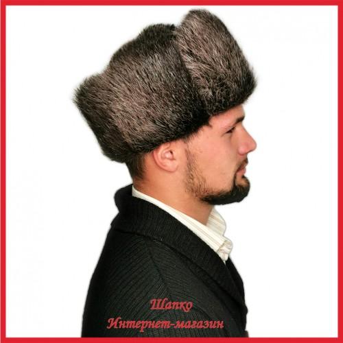 Классическая шапка - ушанка 2 из нутрии