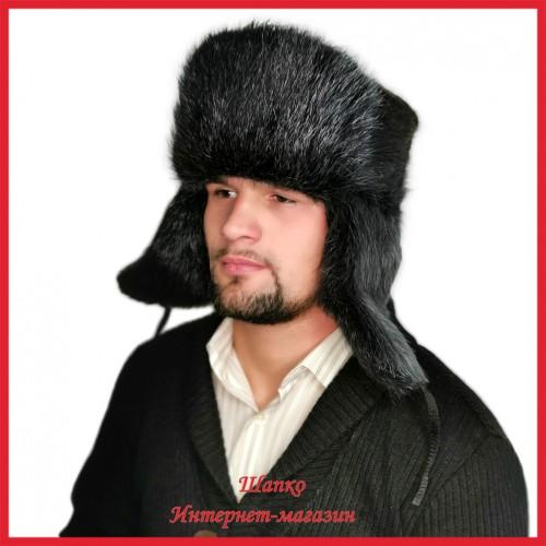 Классическая шапка - ушанка 3 из нутрии