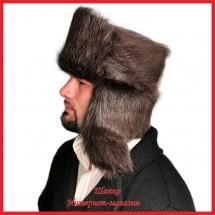 Классическая шапка - ушанка 4 из нутрии
