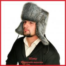 Классическая шапка - ушанка из нутрии Неон