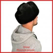 Мужская шапка-обманка из русской норки