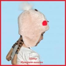 Теплая шапка Пингвинчик из мутона