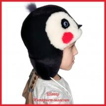 Теплая шапка Пингвинчик 1 из мутона