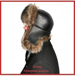 Мужская шапка-ушанка из енота Путник
