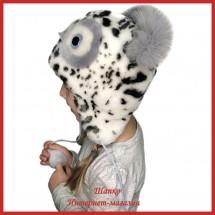 Детская зимняя шапка Совушка