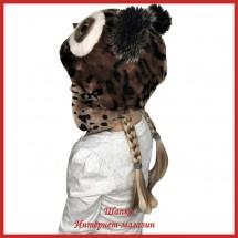 Детская зимняя шапка Совушка 2