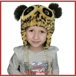 Детская зимняя шапка Совушка 3