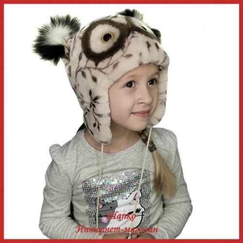 Детская зимняя шапка Совушка 4