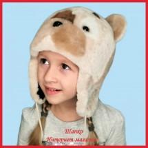 Детская шапка Топтыжка из натурального меха