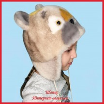 Детская шапка Топтыжка 2 из натурального меха