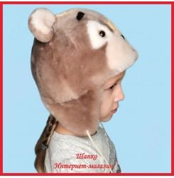 Детская шапка Топтыжка 3 из натурального меха