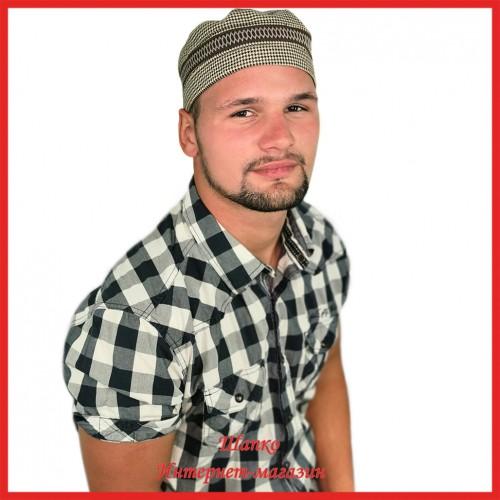 Мужская летняя тюбетейка 1 из льна