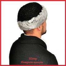 Зимняя каракулевая шапка - тюбетейка