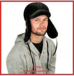 Зимняя кепка - ушанка Круглый Вадсон из русской норки