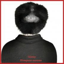Шапка-ушанка Винтаж из черного енота