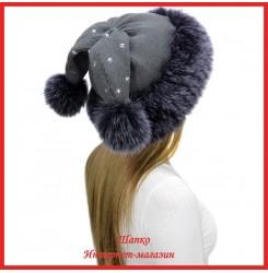 Трикотажная шапка с лисой Bluefrost Зайка 1
